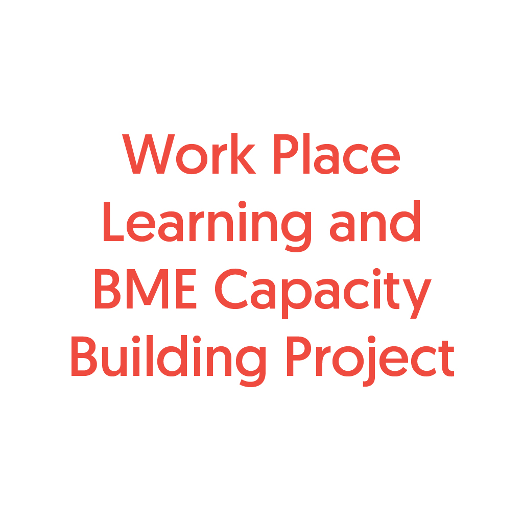 Work Place Learning and BME Capacity Building Project