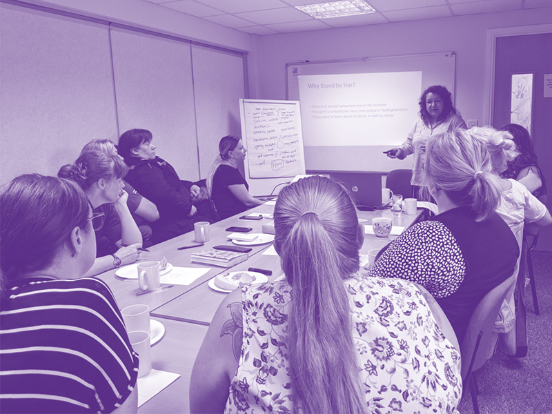 tackling sexual harassment Stand by Her project Communities Inc training