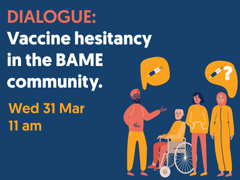 Vaccine Hesitancy in the BAME community - 31 March at 11am
